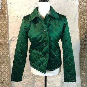Emerald Green Quilted Liz Claiborne Jacket